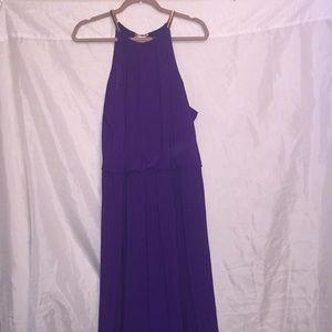 GORGEOUS formal dress! Gold & purple! Size 22 💜👗